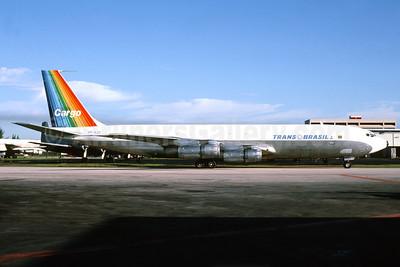 Trans Brasil Cargo (Transbrasil Linhas Aereas) Boeing 707-341C PP-VJS (msn 19321) MIA (Bruce Drum). Image: 104172.
