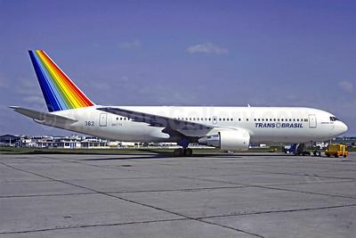 Trans Brasil (Transbrasil Linhas Aereas) Boeing 767-2Q4 N8277V (PT-TAA) (msn 22921) LBG (Christian Volpati). Image: 903024.