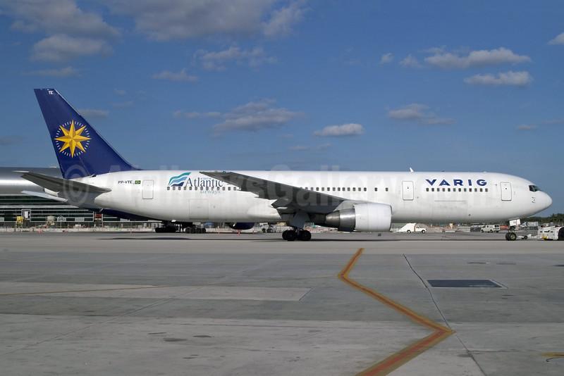 VARIG (1st)-euroAtlantic Airways Boeing 767-3Y0 ER PP-VTE (msn 26208) MIA (Jay Selman). Image: 402281.