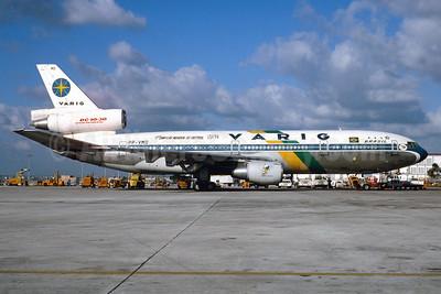 VARIG (1st) McDonnell Douglas DC-10-30 PP-VMD (msn 46916) (Campeao Mundial de Futebol - USA '94) MIA (Bruce Drum). Image: 102969.