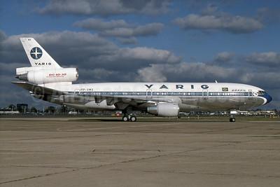 VARIG (1st) McDonnell Douglas DC-10-30 PP-VMX (msn 47845) LHR (SPA). Image: 930586.