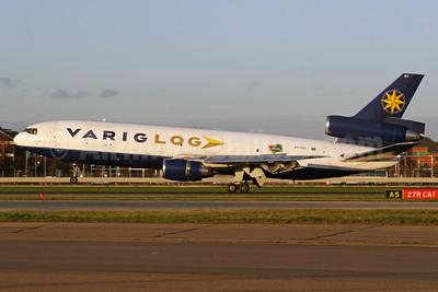 VARIG LOG (Varig Logistica) McDonnell Douglas DC-10-30 (F) PP-VQY (msn 46949) LHR (SPA). Image: 935557.