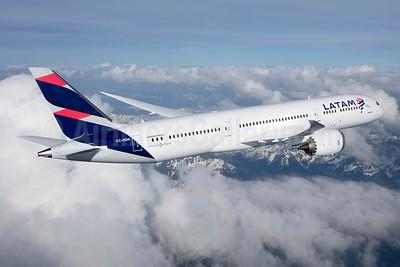 LATAM Airlines (Chile) Boeing 787-9 Dreamliner CC-BGK (msn 38474) (LATAM). Image: 946393.