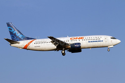 One Airlines (Chile)-Sinami-Xtra Airways Boeing 737-4Q8 N279AD (msn 26279) SCL (Alvaro Romero). Image: 922235.