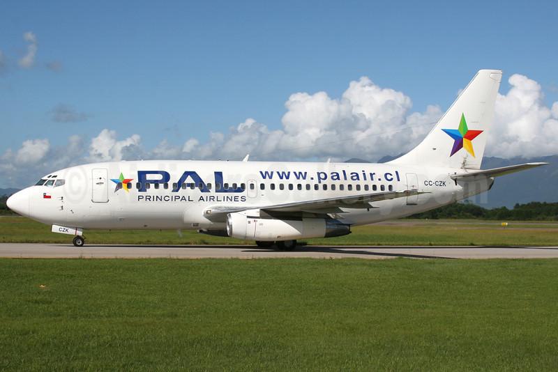PAL-Principal Airlines Boeing 737-236 CC-CZK (msn 21804) FLN (AirSpeed). Image: 904829.