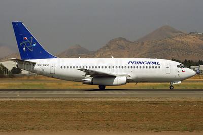 Principal (Aerolinea Principal de Chile) Boeing 737-236 CC-CZO (msn 22030) SCL (Alvaro Romero). Image: 901661.