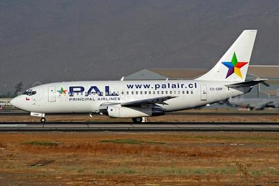 PAL Airlines Boeing 737-230 CC-CRP (msn 22134) SCL (Alvaro Romero). Image: 943337.