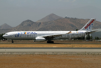 PAL Airlines-AirEuropa Airbus A330-343X EC-LXR (msn 1097) (AirEuropa colors) SCL (Alvaro Romero). Image: 922017.