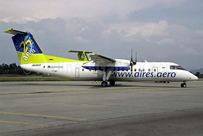 AIRES Colombia Bombardier DHC-8-301 HK-3952 (msn 169) (25 Anos - 25 Years) BOG (Christian Volpati). Image: 913788.