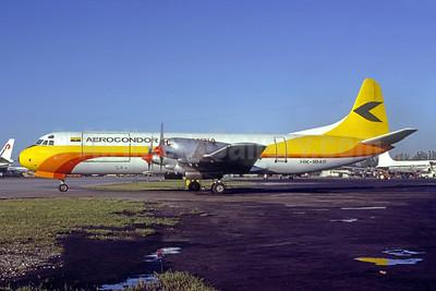 Aerocondor Colombia Lockheed 188C (F) Electra HK-1845 (msn 1077) MIA (Bruce Drum). Image: 105364.