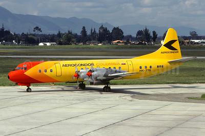 Aerocondor Colombia Lockheed 188A Electra HK-775 (msn 1073) BOG (Christian Volpati Collection). Image: 950725.