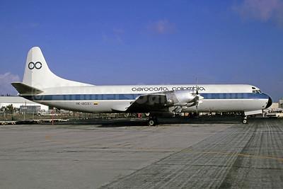 Aerocosta Colombia Lockheed 188C (F) Electra HK-1809X (msn 1077) MIA (Bruce Drum). Image: 105346.