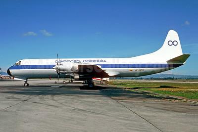 Aerocosta Colombia Lockheed 188C (F) Electra HK-1809 (msn 1077) BOG (Christian Volpati Collection). Image: 950726