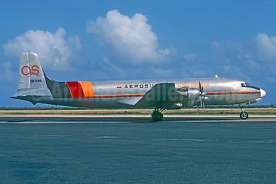 Aerosucre Colombia Douglas C-118A-DO (DC-6A) HK-3301 (msn 44637) CUR (Jacques Guillem Collection). Image: 950523.