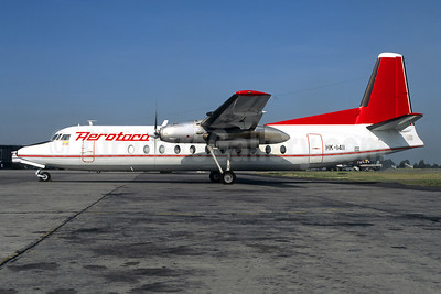 Aerotaca Colombia Fairchild FH-227D HK-1411 (msn 575) BOG (Christian Volpati). Image: 950525.