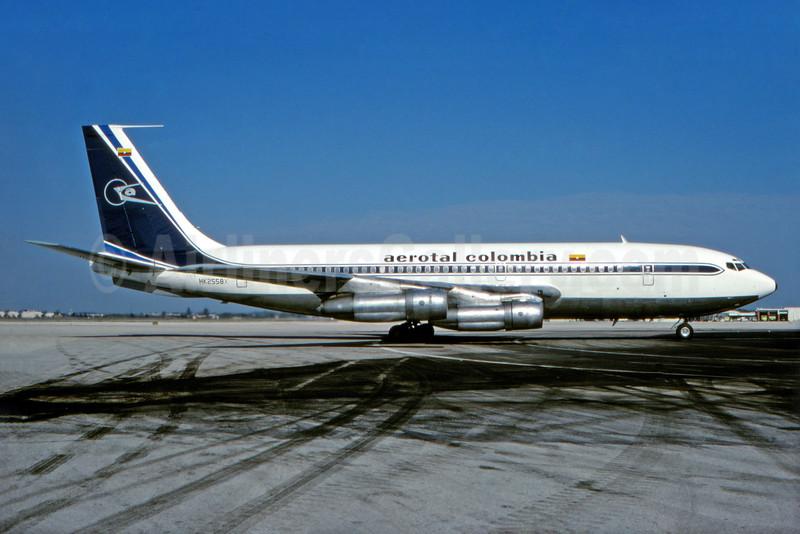 Aerotal Colombia Boeing 720-030B HK-2558X (msn 18060) MIA (Bruce Drum). Image: 104193.