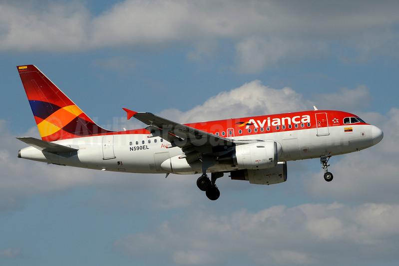 Avianca (Colombia) Airbus A318-111 N590EL (msn 2328) MIA (Jay Selman). Image: 403641.