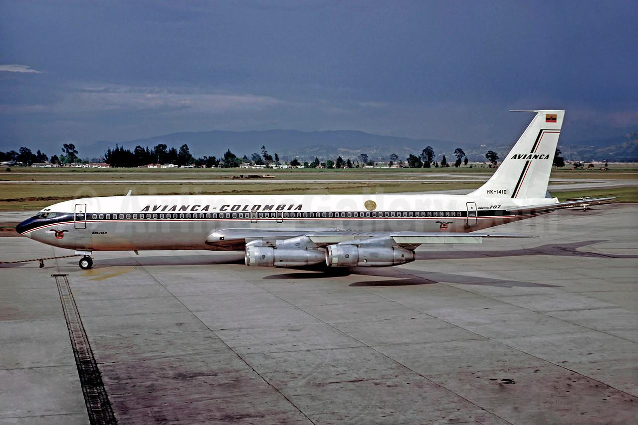 AVIANCA Colombia Boeing 707-359B HK-1410 (msn 20340) BOG (Christian Volpati). Image: 902286.