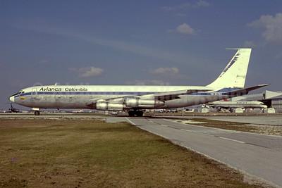Avianca Colombia Boeing 707-321C HK-2473X (msn 19375) (Transacargo  colors) MIA (Bruce Drum). Image: 105248.
