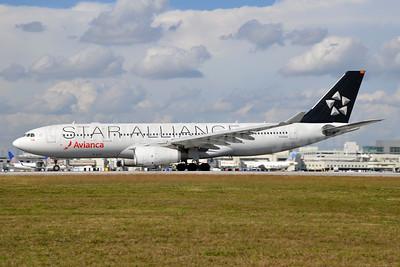 Avianca (Colombia) Airbus A330-243 N342AV (msn 1342) (Star Alliance) MIA (Bruce Drum). Image: 105245.