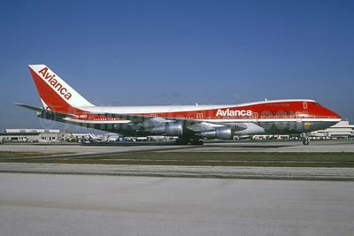 Avianca Colombia Boeing 747-259B HK-2980X (msn 21730) MIA (Bruce Drum). Image: 105251.