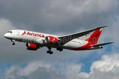 Avianca (Colombia) Boeing 787-8 Dreamliner N781AV (msn 37503) LHR (SPA). Image: 937332.