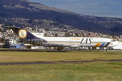 LAS - Lineas Aereas Suramericanas Boeing 727-2X3 (F) HK-4354 (msn 22608) UIO (Christian Volpati Collection). Image: 940330.