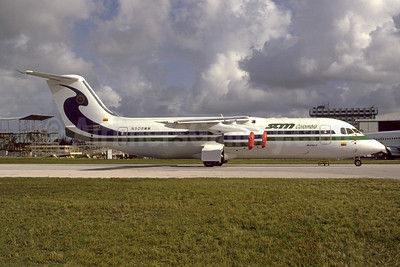 SAM Colombia Avro (BAe) RJ100 N508MM (msn E3247) MIA (Bruce Drum Collection). Image: 948330.