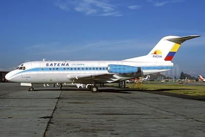 SATENA Fokker F.28 Mk. 3000C FAC 1141 (msn 11162) BOG (Christian Volpati). Image: 927854.