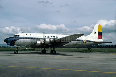 SATENA Douglas C-54E-DO (DC-4) FAC 691 (msn 27323) BOG (Richard Vandervord). Image: 927852.