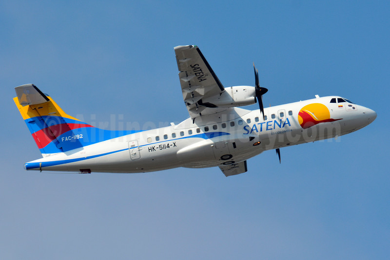 SATENA ATR 42-600 HK-5114-X FAC-1192 (msn 1019) TLS (Paul Bannwarth). Image: 928567.