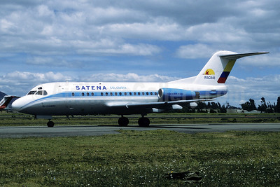 SATENA Fokker F.28 Mk. 3000C FAC 1141 (msn 11162) VVC (Richard Vandervord). Image: 927855.