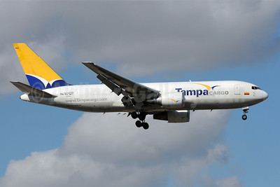 Tampa Cargo Boeing 767-241F ER N767QT (msn 23804) MIA (Bruce Drum). Image: 101204.