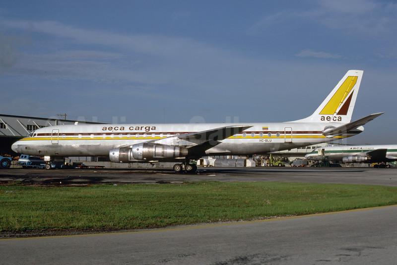 AECA Carga McDonnell Douglas DC-8F-54 JetTrader HC-BLU (msn 45668) MIA (Bruce Drum). Image: 103505.