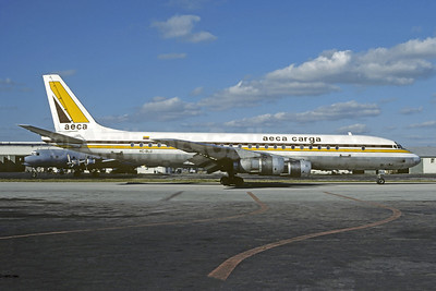 AECA Carga McDonnell Douglas DC-8F-54 JetTrader HC-BLU (msn 45668) MIA (Christian Volpati Collection). Image: 946334.