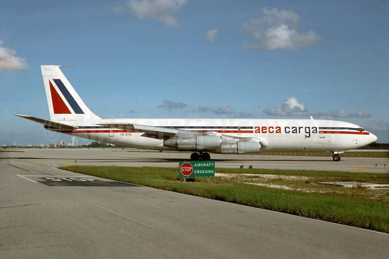 AECA Carga Boeing 707-330C HC-BTB (msn 18937) MIA (Bruce Drum). Image: 103504.