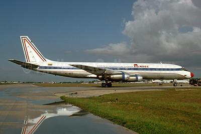 ANDES - Aerolineas Nacionales Del Ecuador McDonnell Douglas DC-8-33 (F) HC-BEI (msn 45606) MIA (Bruce Drum). Image: 103647.