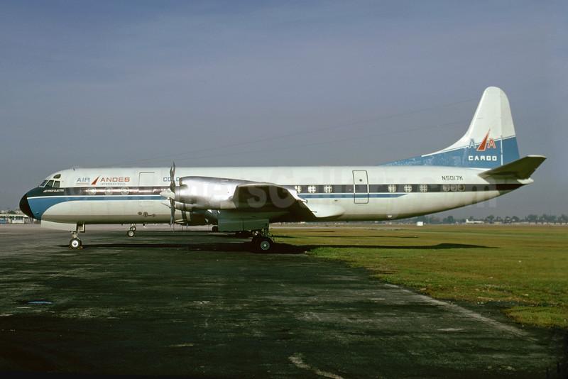 Air Andes Internacional Lockheed 188A Electra N5017K (msn 1031) MIA (Bruce Drum). Image: 103565.