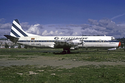 Ecuatoriana (Empresa Ecuatoriana de Aviacion) Lockheed 188A Electra HC-AMS (msn 1002) UIO (Christian Volpati). Image: 913602.