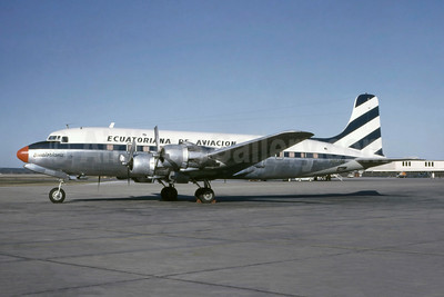 Ecuatoriana de Aviacion (Empresa Ecuatoriana de Aviacion) Douglas DC-6 N90706 (HC-AQA) (msn 42859) SAT (Manuel J. Delgado - Bruce Drum Collection). Image: 954195.
