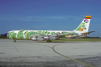 "Ecuatoriana's 1975 ""jungle"" special livery"