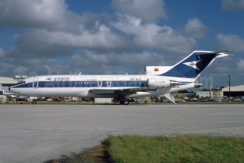 SAETA Ecuador Boeing 727-95 HC-BJL (msn 19596) MIA (Bruce Drum). Image: 103967.