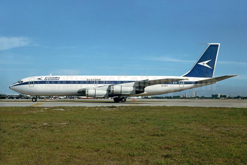 SAETA Ecuador Boeing 707-373C HC-BLY (msn 18709) MIA (Bruce Drum). Image: 103966.