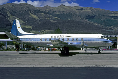 SAETA Vickers Viscount 785D HC-BRS (msn 377) GYE (Christian Volpati Collection). Image: 928448.