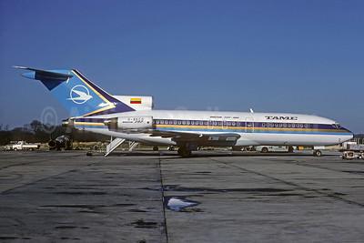 TAME (Transportes Aereos Militares Ecuatorianos) Boeing 727-17 G-BKCG (HC-BLV) (msn 20328) STN (Christian Volpati Collection). Image: 931707.