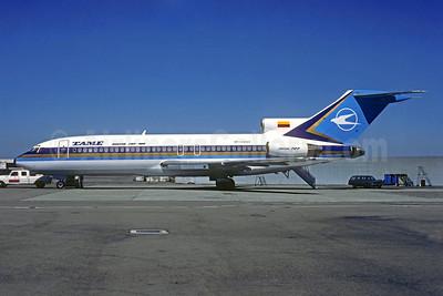 TAME (Transportes Aereos Militares Ecuatorianos) Boeing 727-134 RP-C1240 (HC-BLE) (msn 19691) SFO (Seymour Hills - Christian Volpati Collection). Image: 931708.