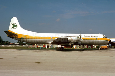 Guyana Airways Lockheed 188A (F) Electra 8R-GEW (msn 1035) MIA (Bruce Drum). Image: 103912.
