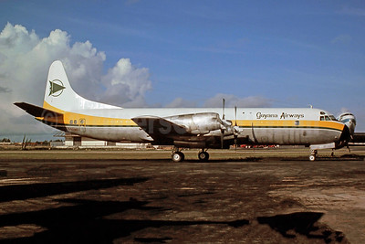 Guyana Airways (MCA Leasing Corporation) Lockheed 188A (F) Electra N415MA (8R-GEW) (msn 1035) MIA (Bruce Drum). Image: 105369.