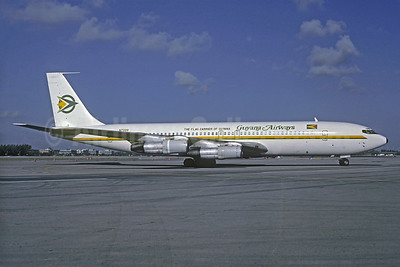 Guyana Airways Boeing 707-321B N732Q (msn 20034) MIA (Keith Armes). Image: 907646.