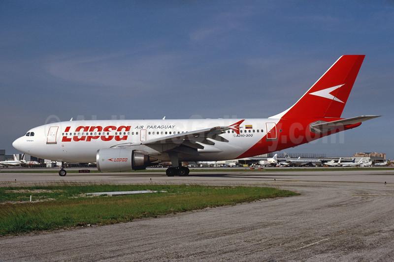 LAPSA Air Paraguay (SAETA) Airbus A310-304 HC-BRP (msn 598) MIA (Bruce Drum). Image: 104396.